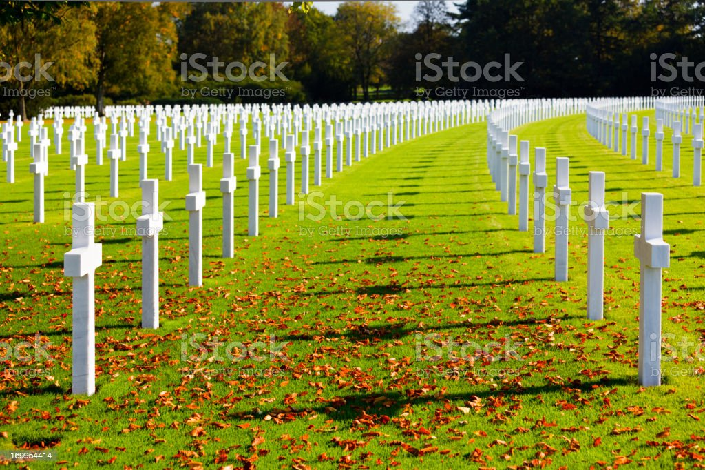 Military Cemetery Crosses royalty-free stock photo