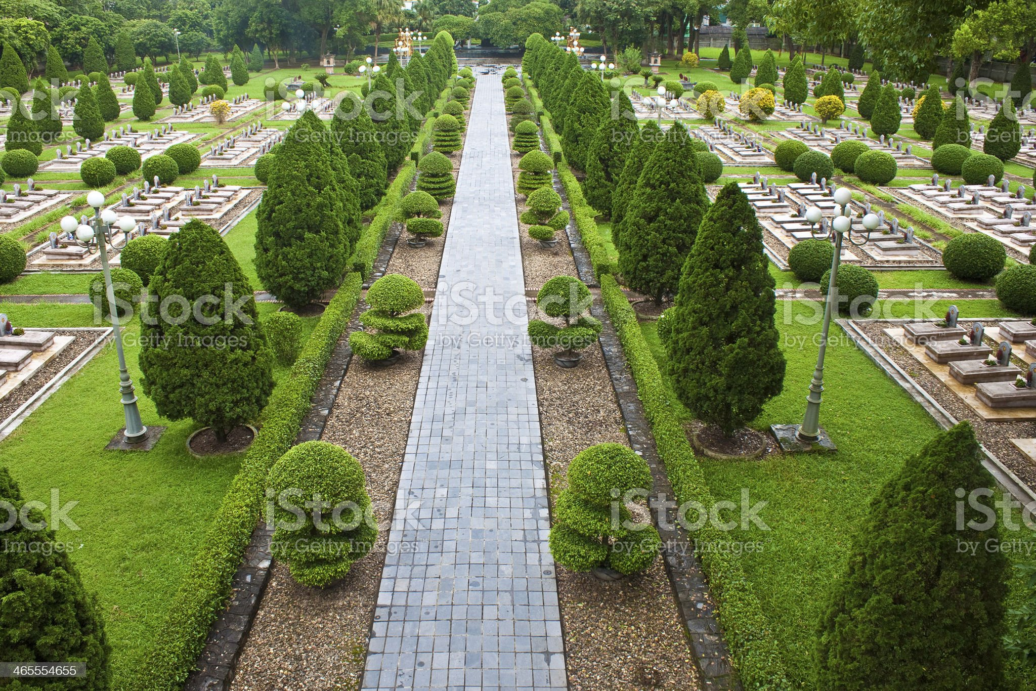 Military cemetery in Dien Bien Phu royalty-free stock photo