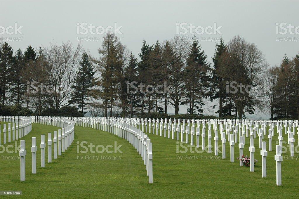 US military cemetery stock photo