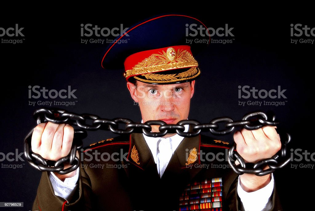 Military Chained stock photo