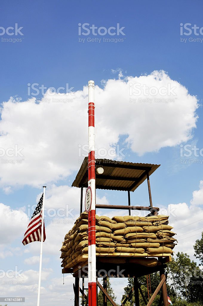 U.S. Military Checkpoint stock photo