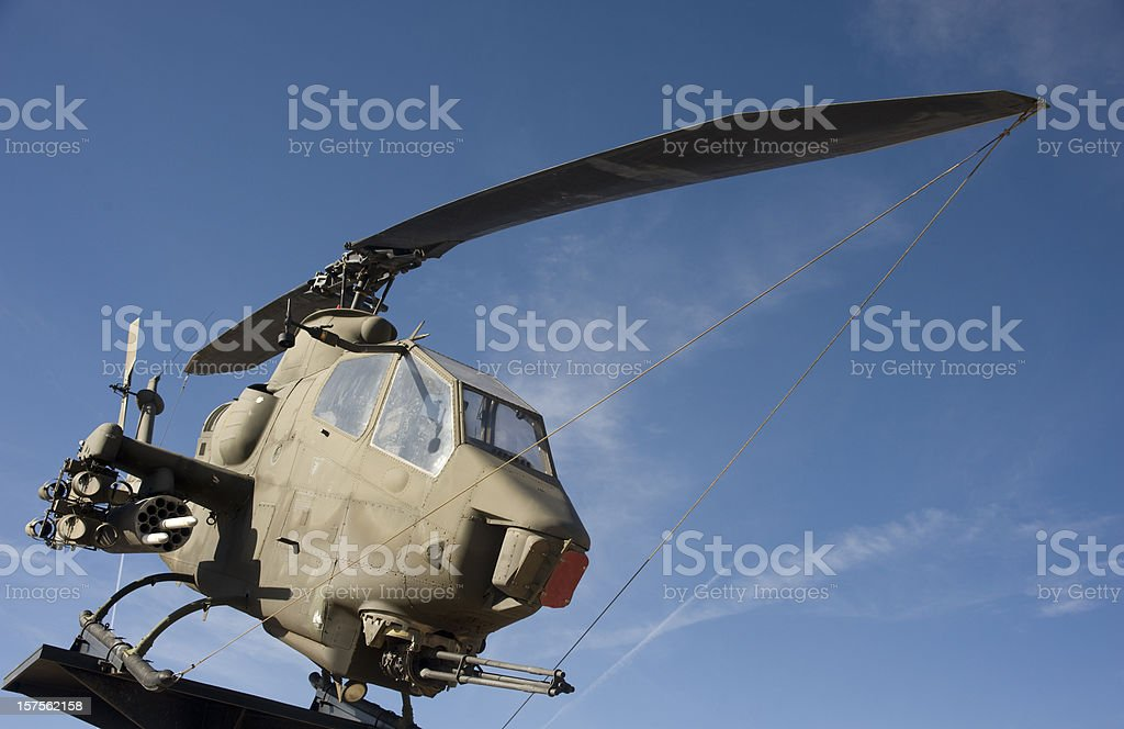 Military Cobra Helicopter stock photo