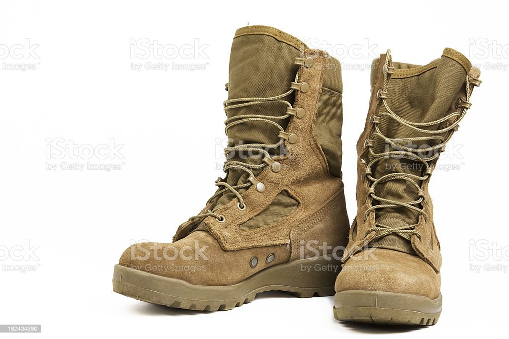 Military Combat Boots stock photo