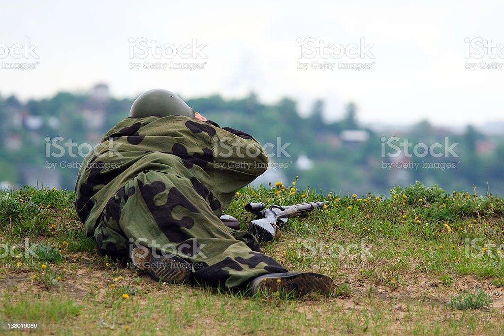 Military combat royalty-free stock photo