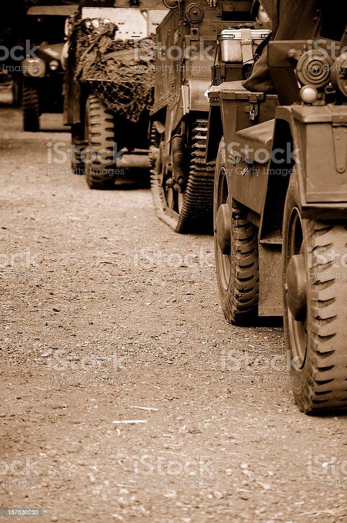 Military Convoy. royalty-free stock photo