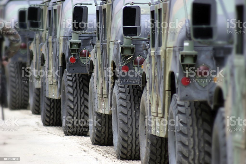 Military convoy royalty-free stock photo