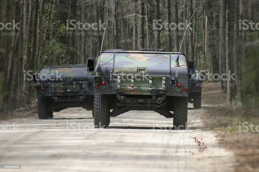 Military convoy stock photo