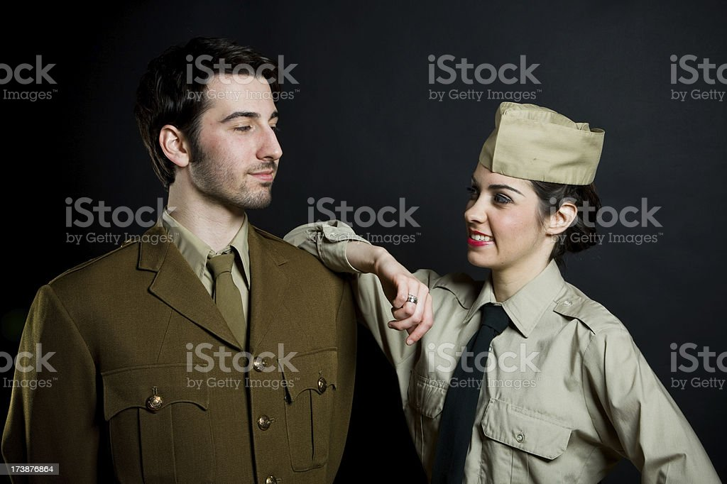 Military couple royalty-free stock photo