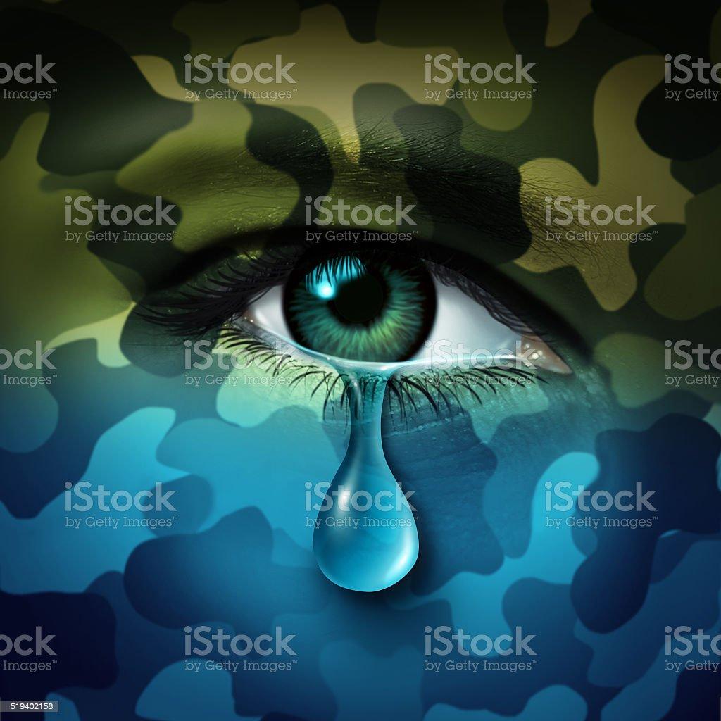 Military Depression stock photo