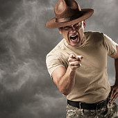 Military Drill Sergeant Barking Orders