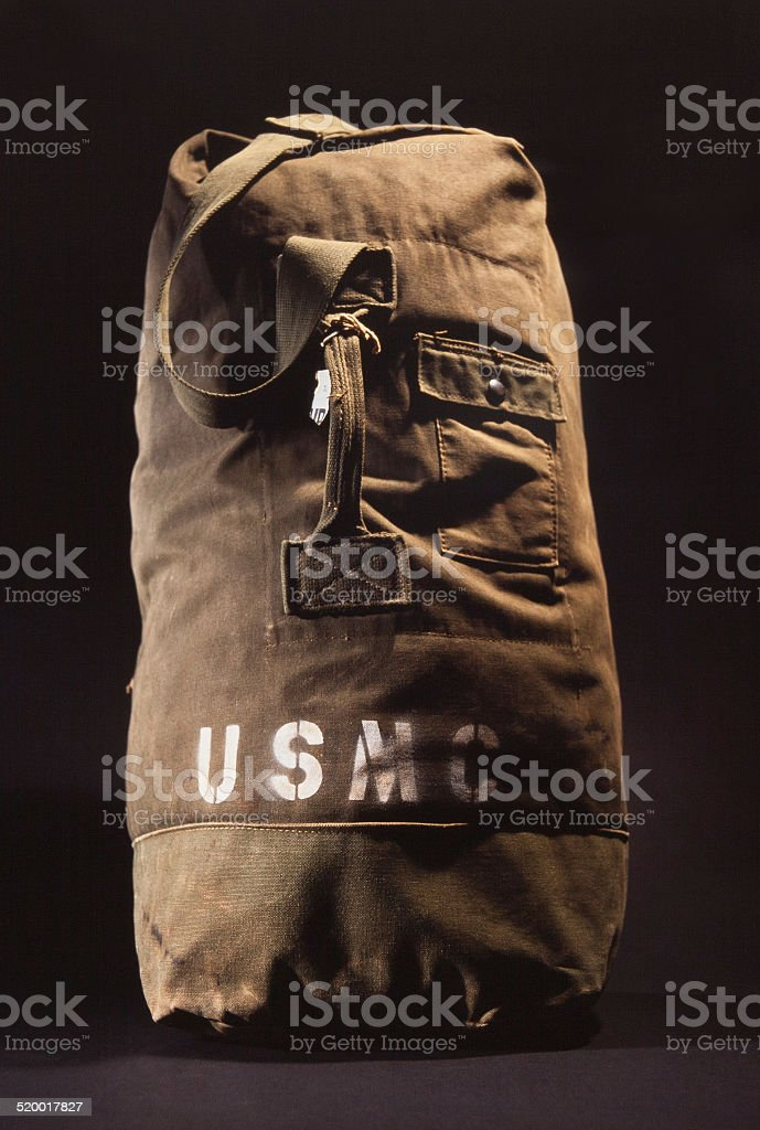 Military Duffle stock photo
