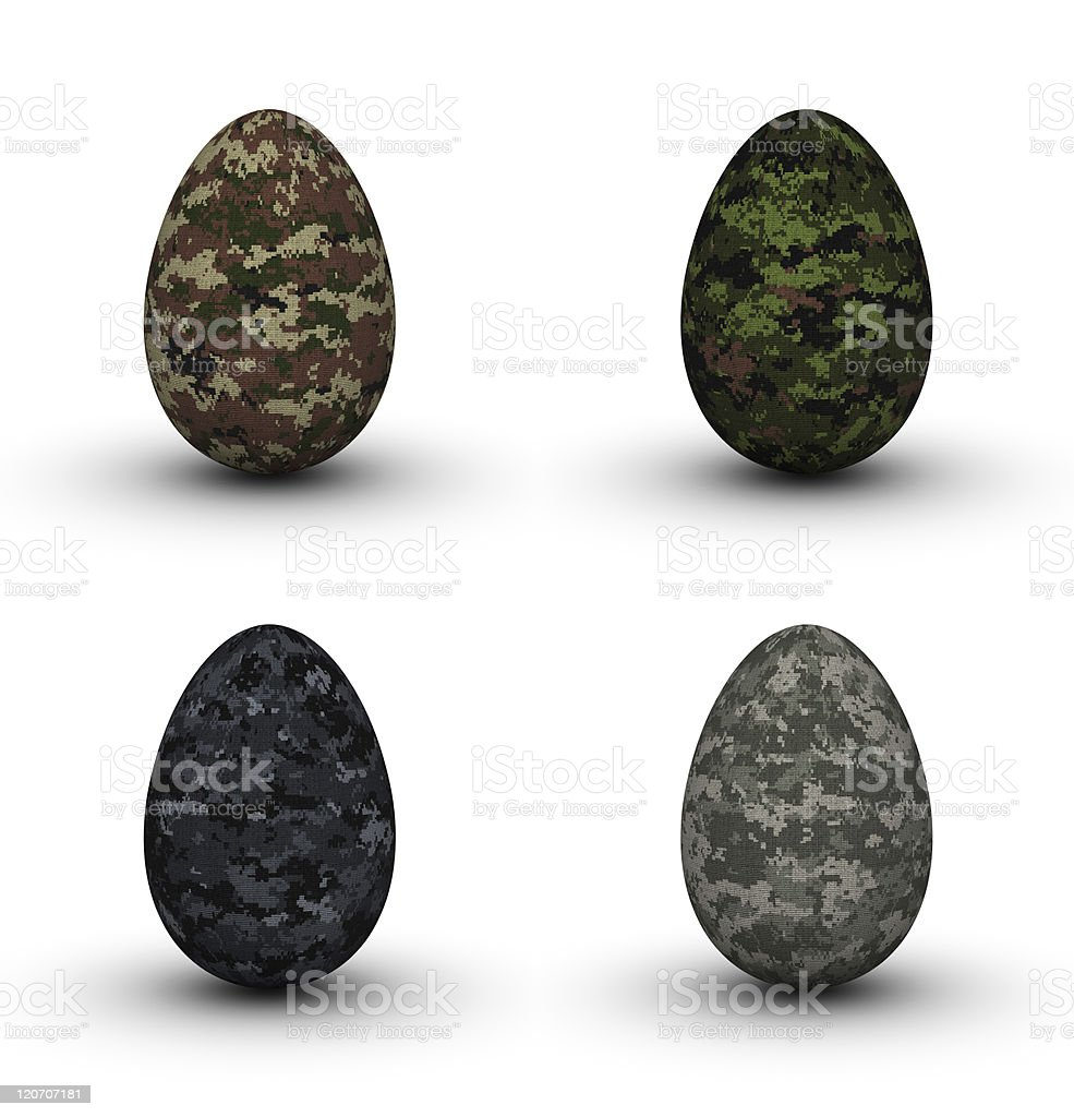 Military Easter Eggs stock photo