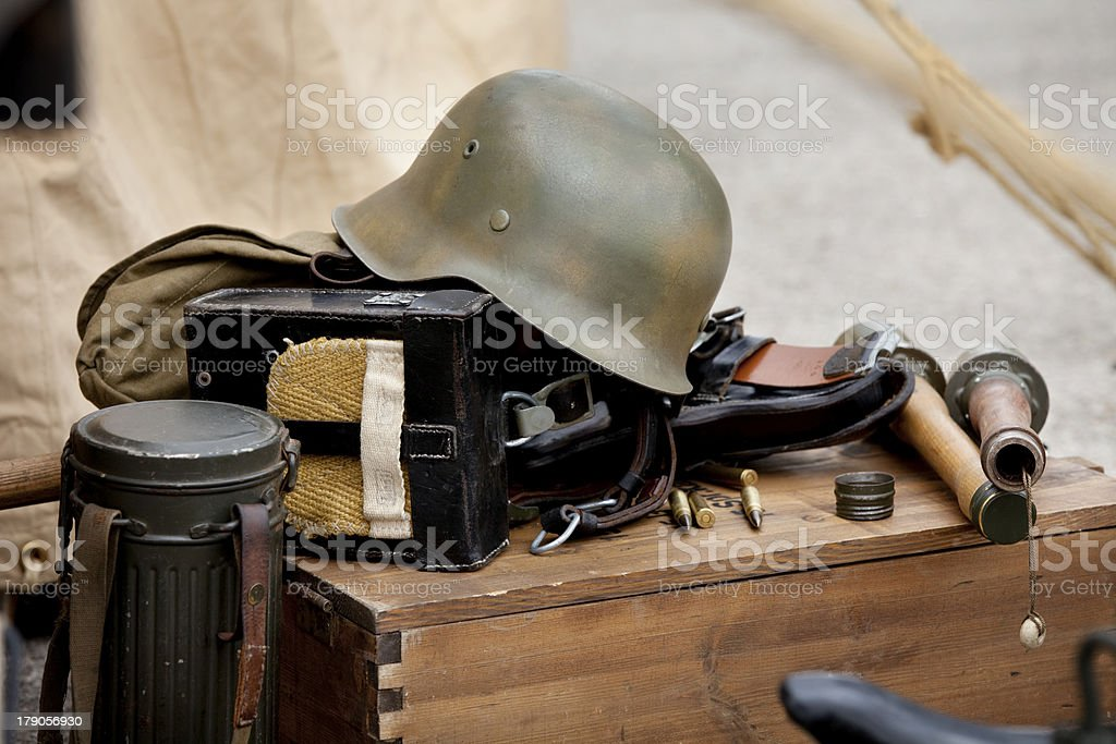 Military equipment royalty-free stock photo