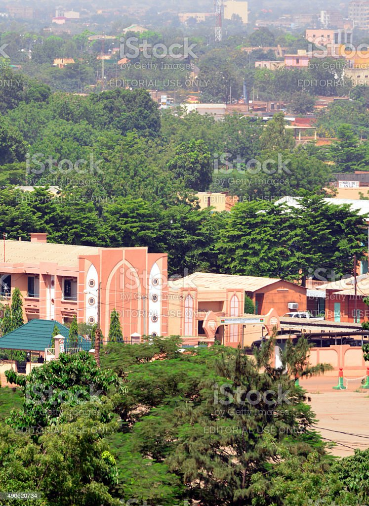 Military facilities in downtown Ouagadougou, Burkina Faso stock photo