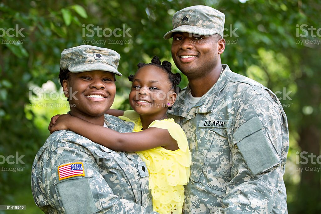 Military Family stock photo