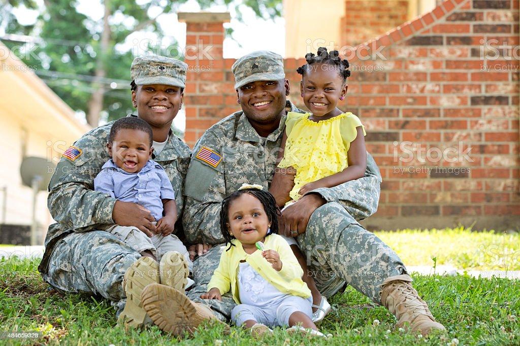 Military Family stock photo