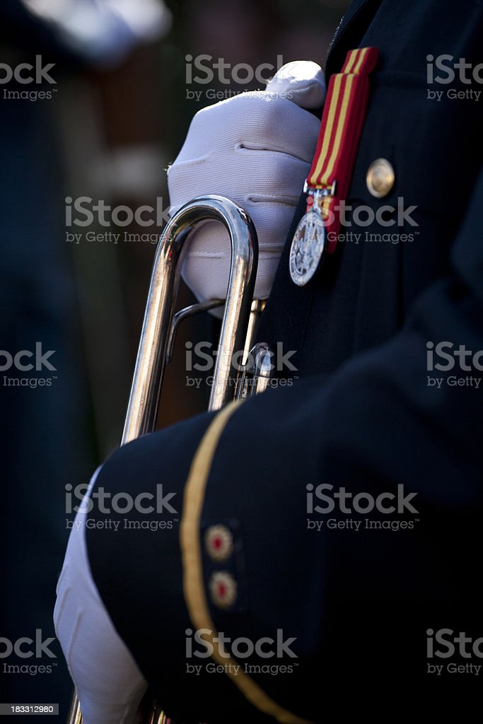 Military fanfare royalty-free stock photo