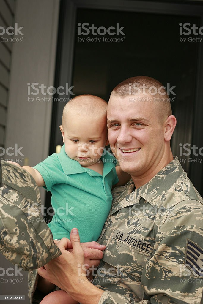 Military Father and Son royalty-free stock photo