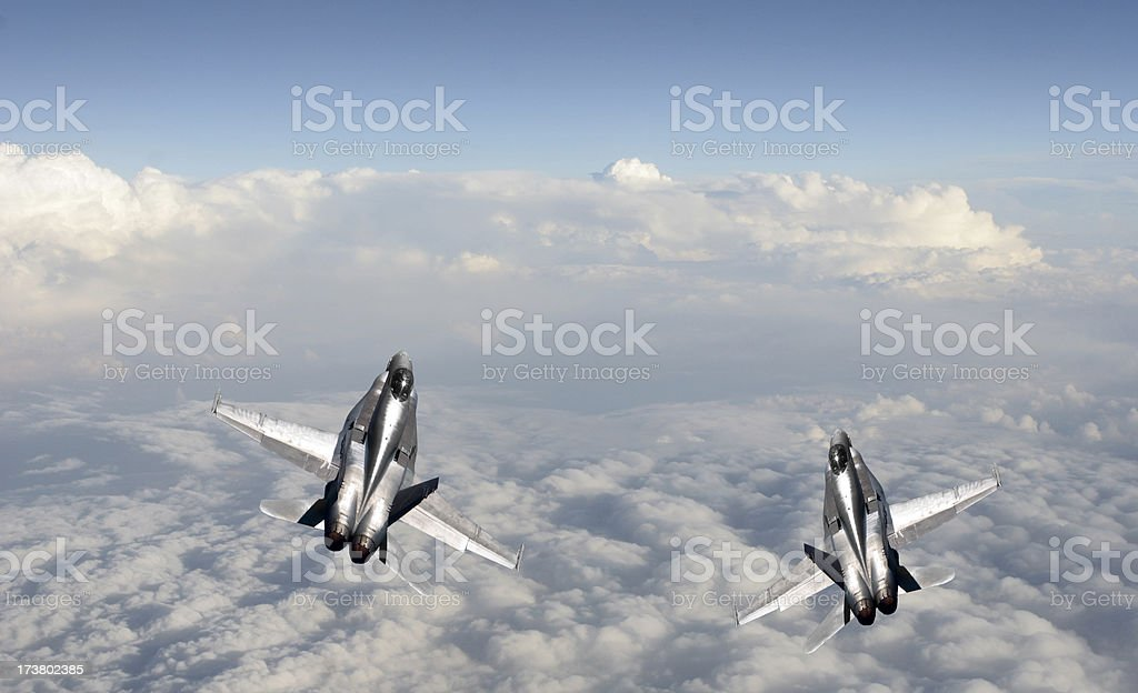 Military fighter jet stock photo