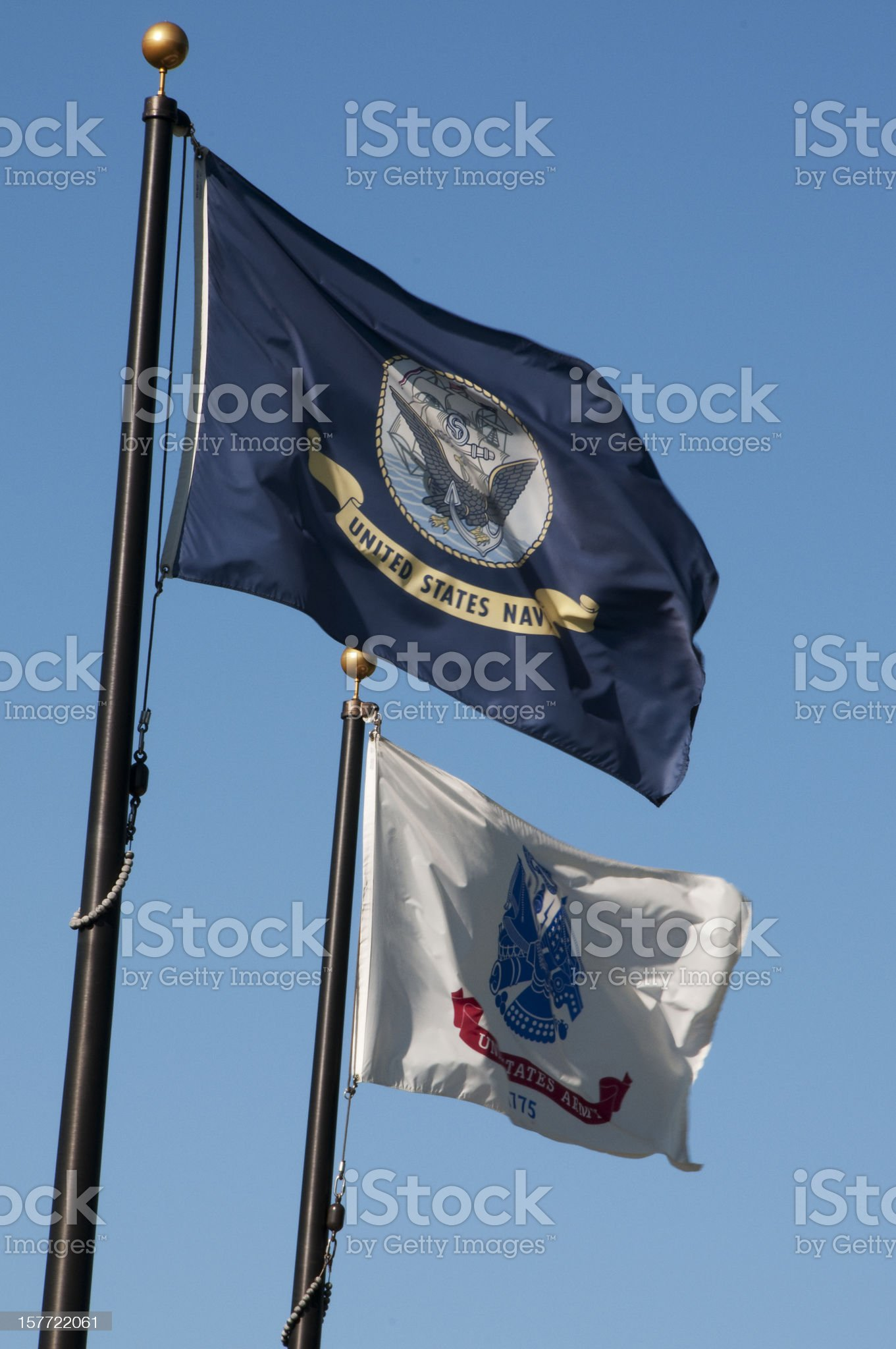 Military Flags royalty-free stock photo