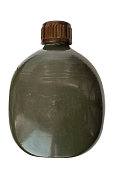 Military flask green army style