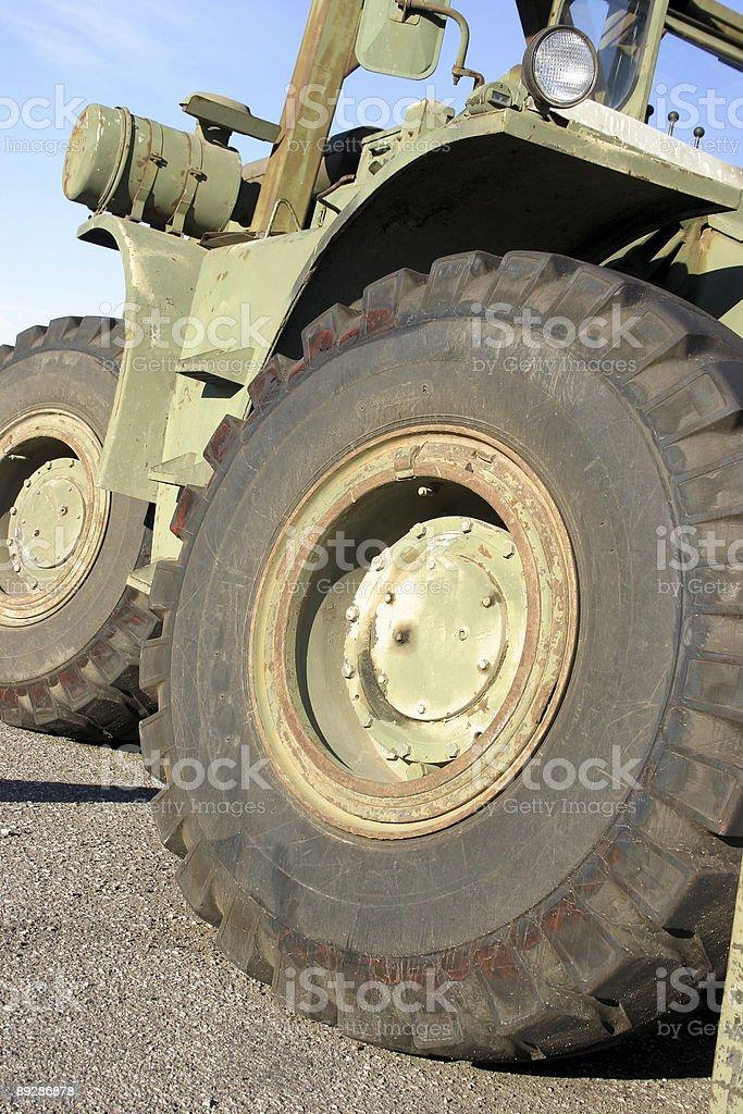 Military forklift stock photo