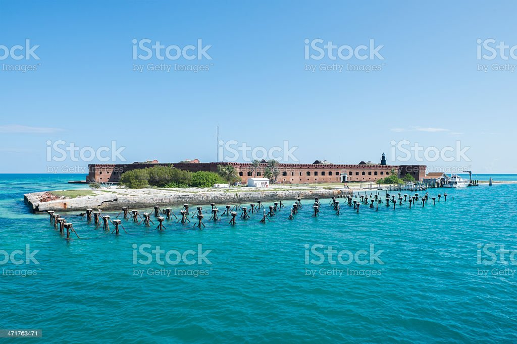 Military Fortress in the Dry Tortugas National Park stock photo