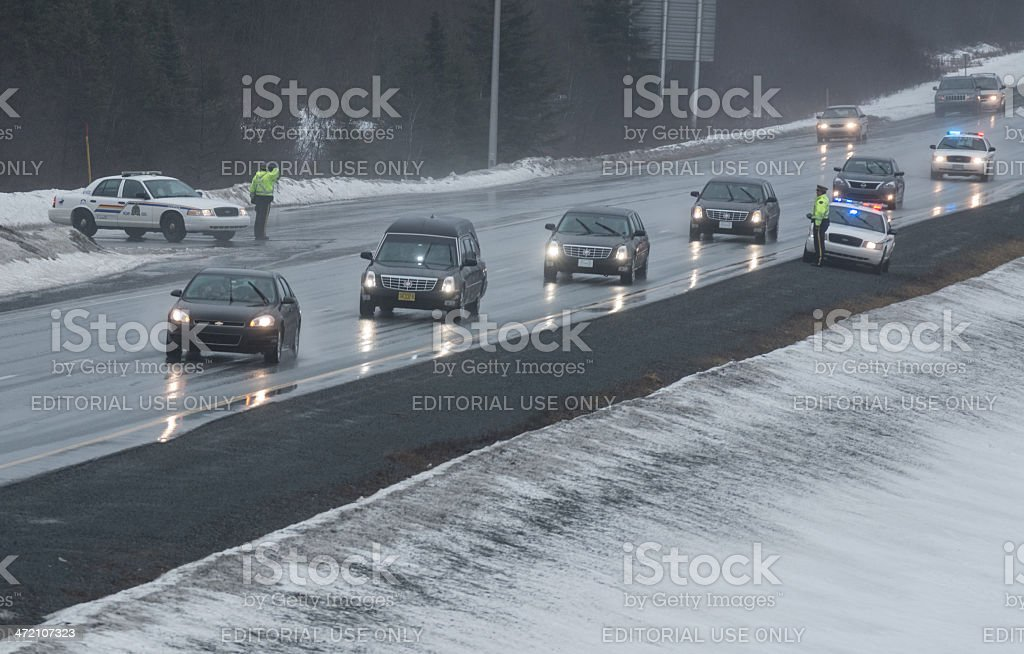 Military Funeral Motorcade stock photo