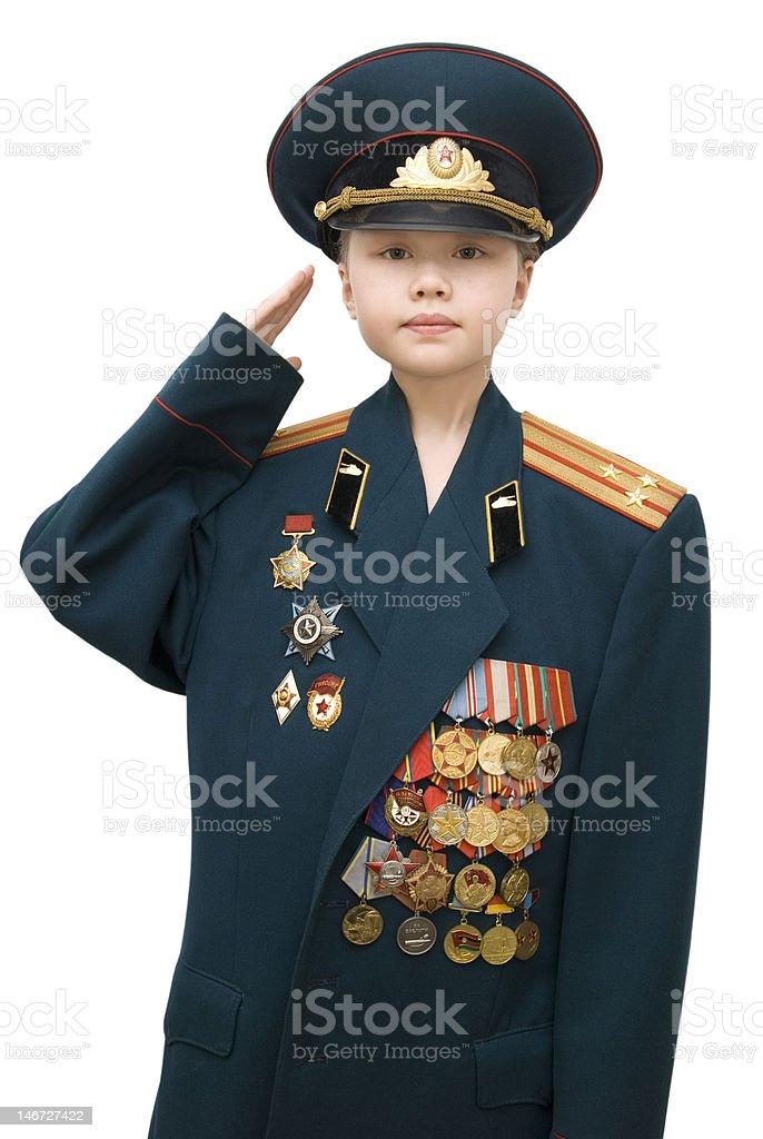 military girl royalty-free stock photo