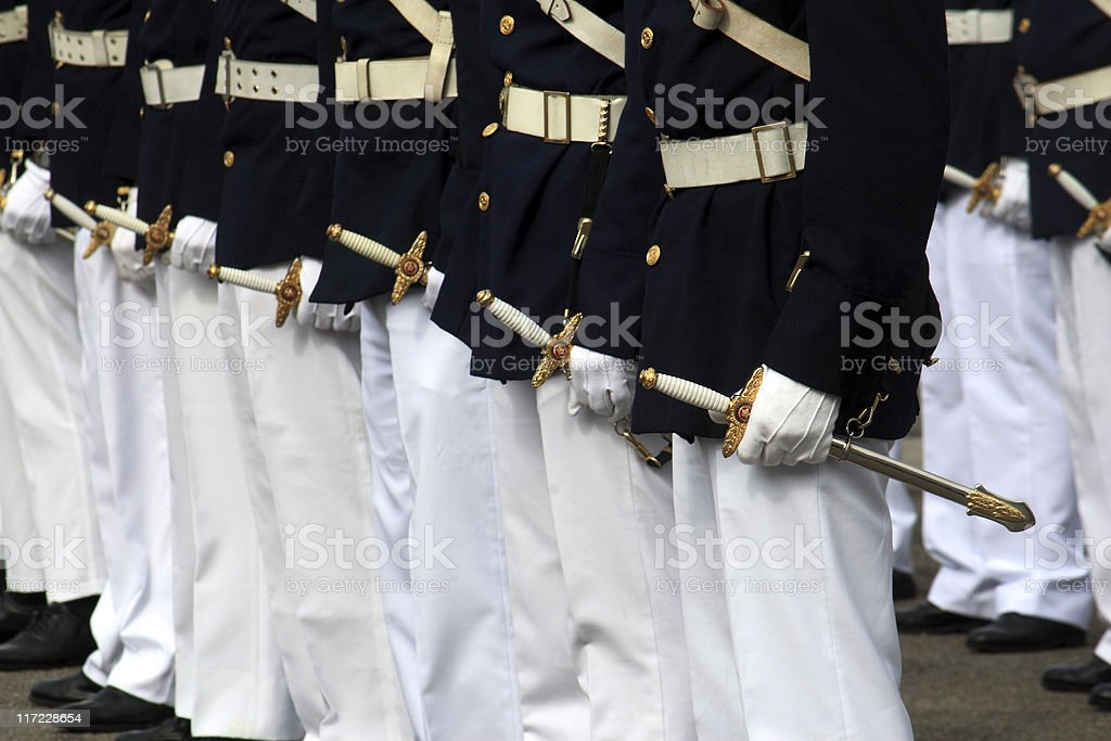 Military graduation stock photo
