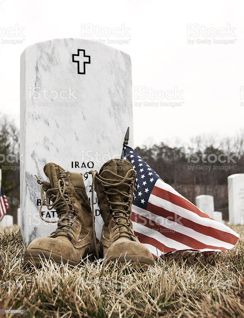 Military Grave stock photo