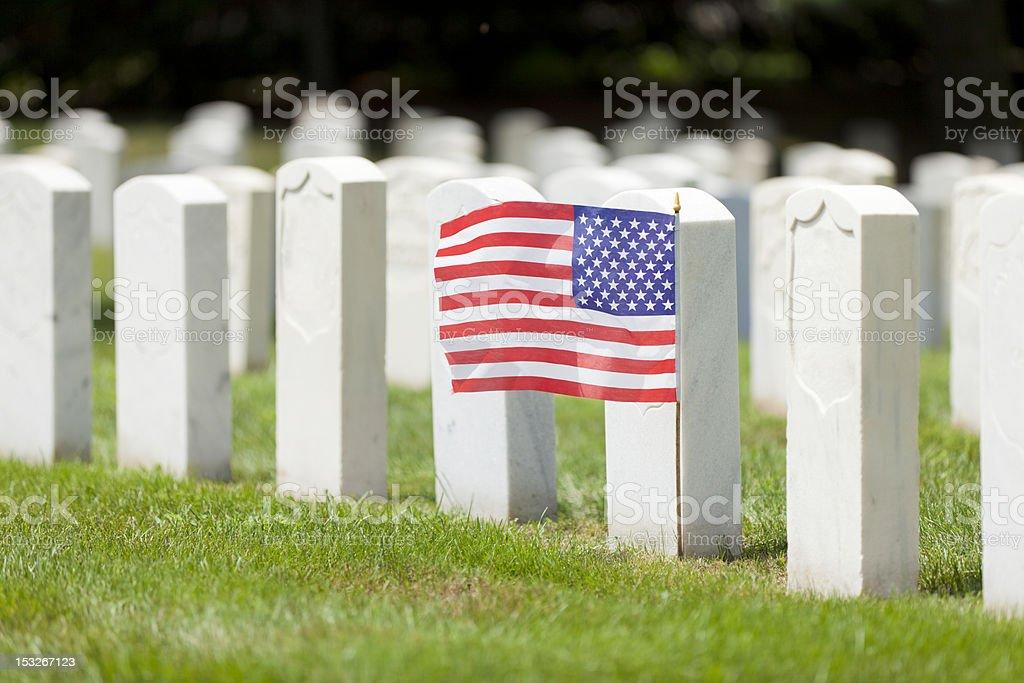 Military graves stock photo