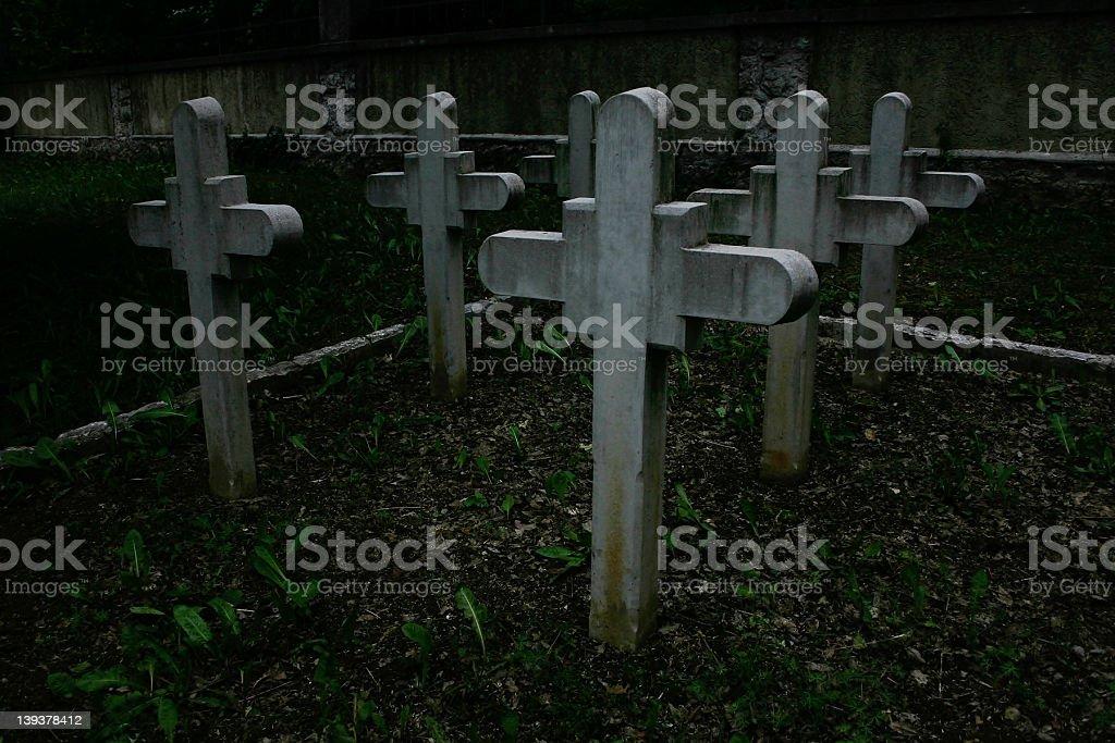 WWI military graveyard stock photo