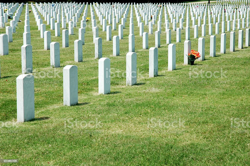 Military Headstones stock photo