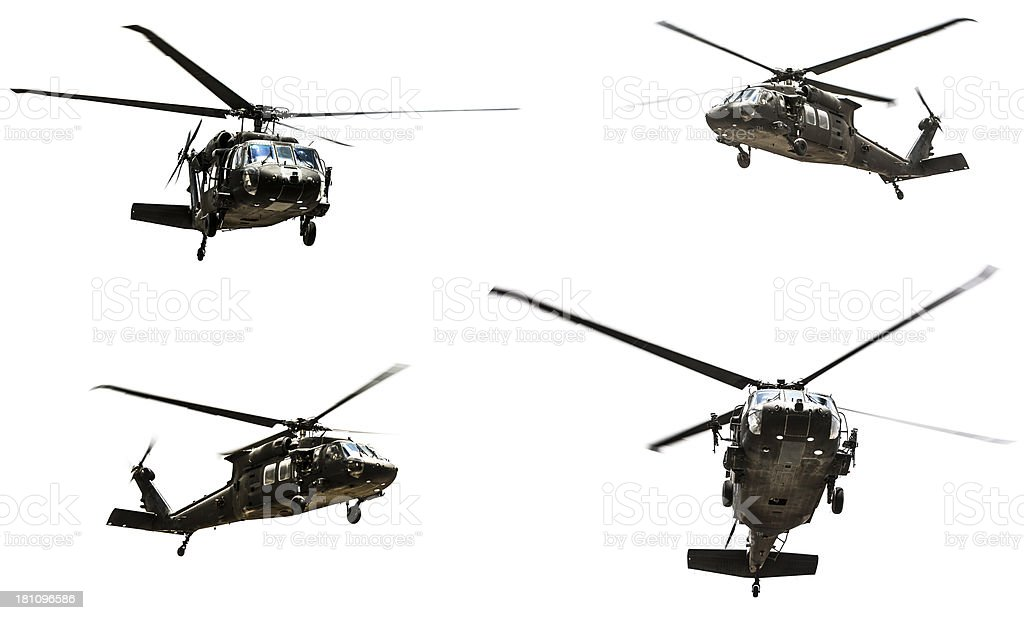 Military Helecopter Isolated royalty-free stock photo