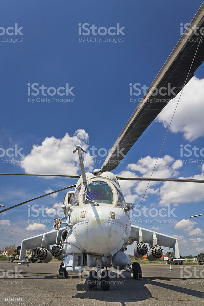 Military Helicopter Mi-24 royalty-free stock photo
