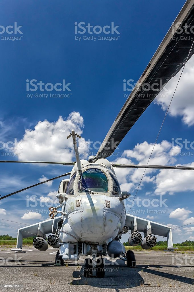 Military Helicopter Mi-24 stock photo