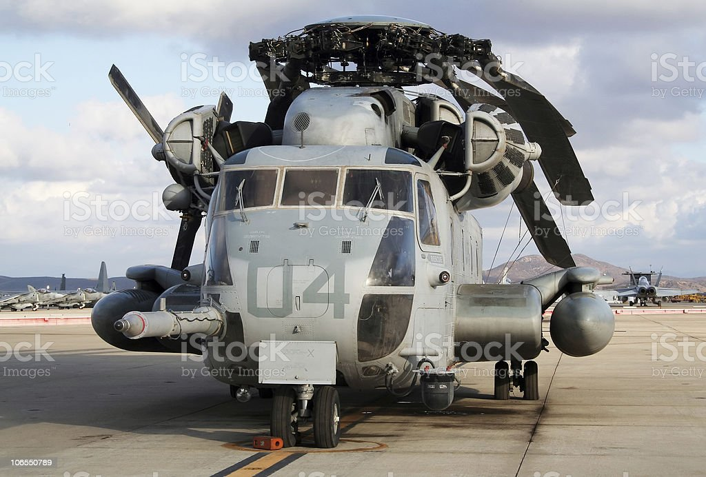 CH-53 Military helicopter stock photo