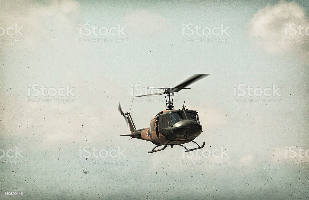 Military Helicopter UH-1 stock photo