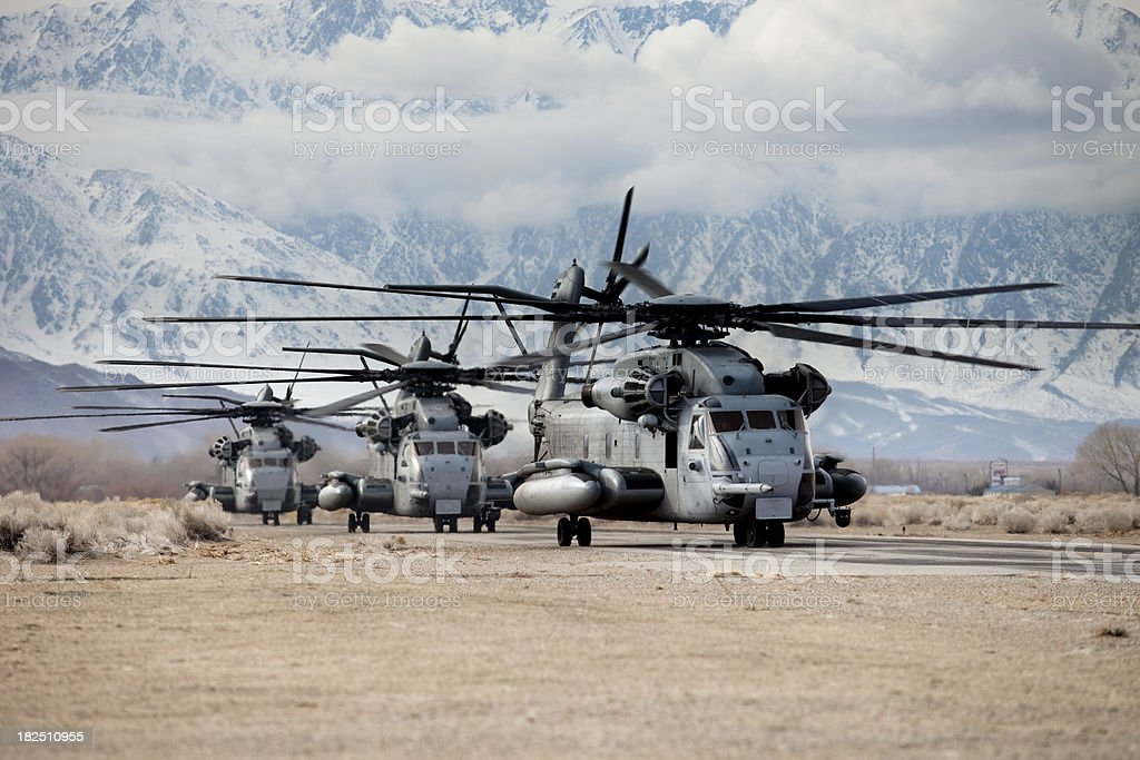 CH-53 Military Helicopters stock photo