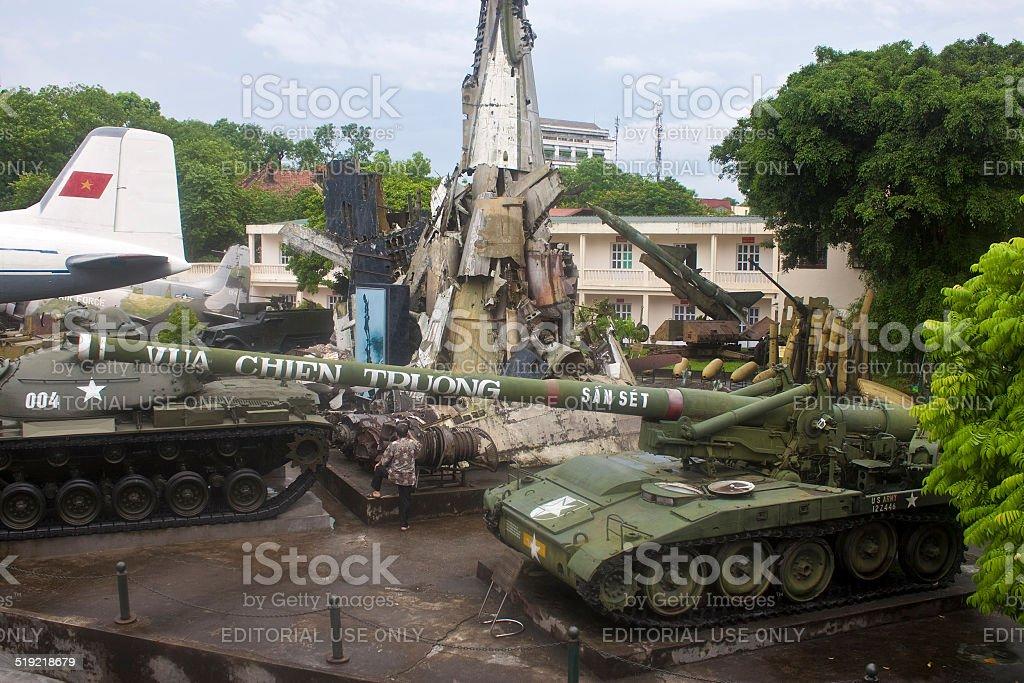 Military History museum in Hanoi stock photo