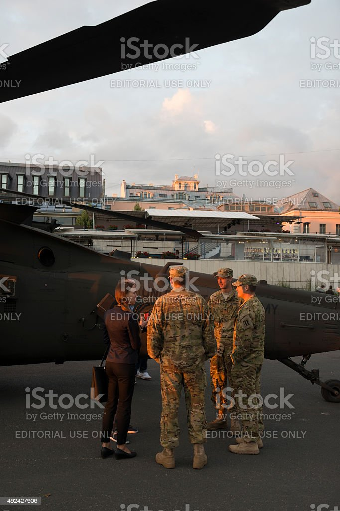 U.S. Military in the Baltics stock photo
