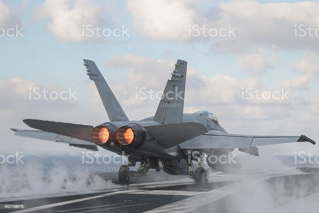 Military Jet Aircraft stock photo