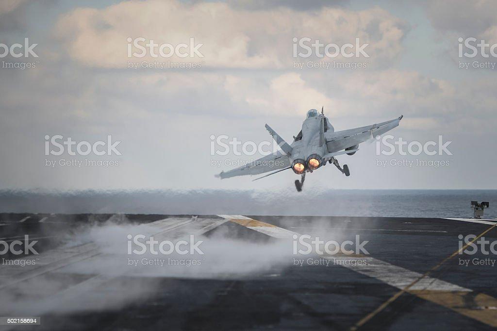 Military Jet Aircraft stock photo