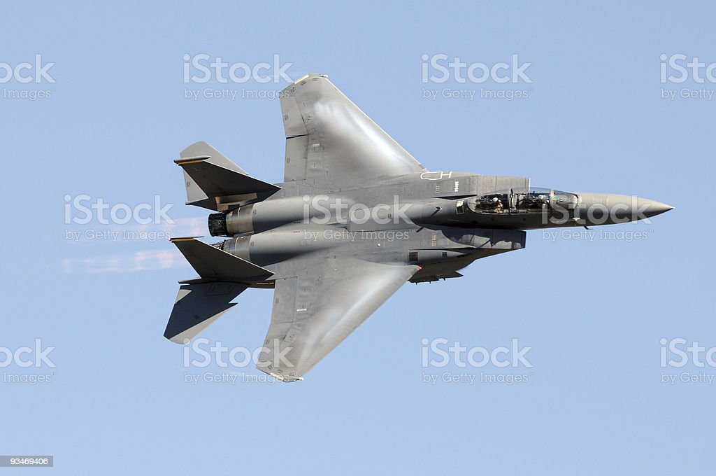 Military jet fighter stock photo