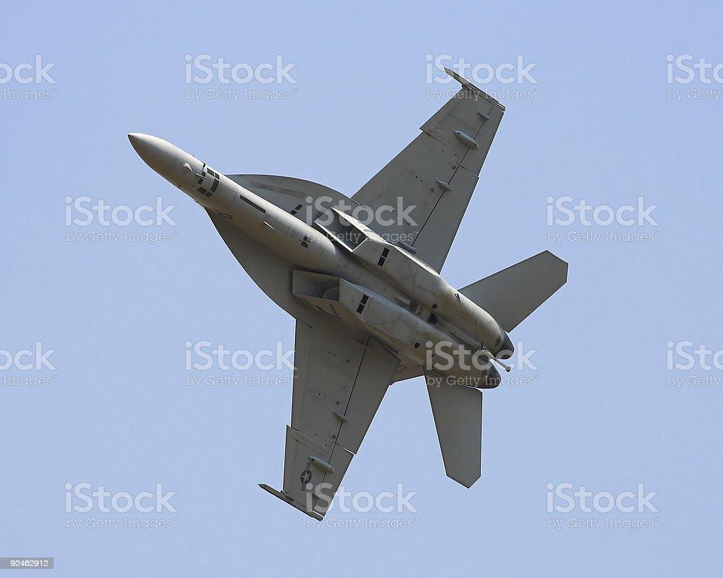 Military Jet - Hard Turn royalty-free stock photo