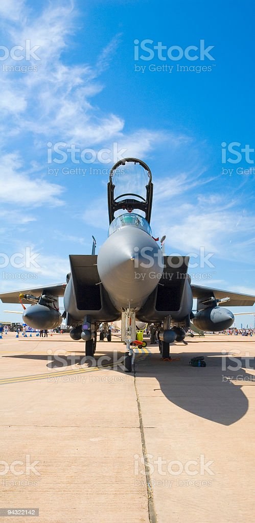 Military jet nose cone stock photo