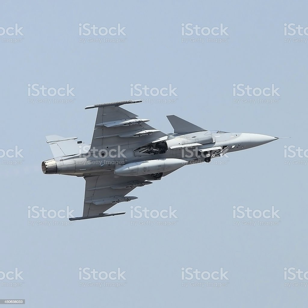 military jet on the air royalty-free stock photo