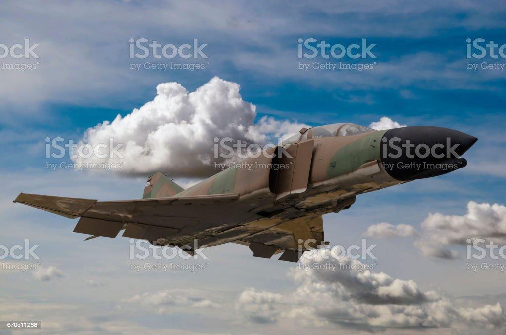 Military jet stock photo