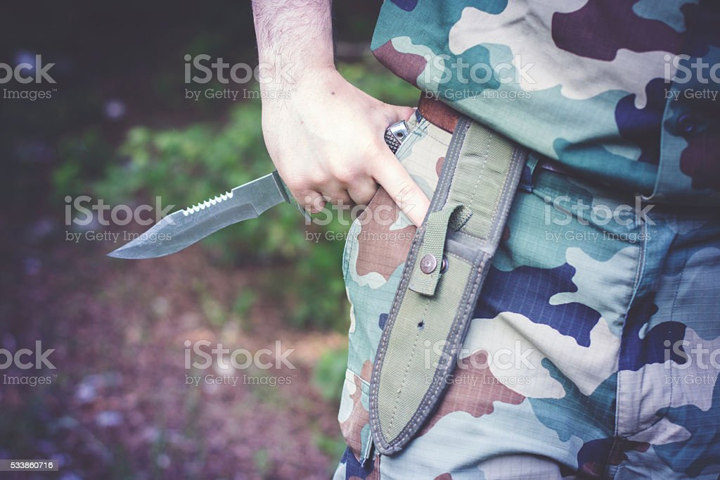 Military Knife stock photo